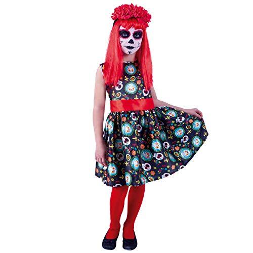 Rubies - Disfraz de Guadalupe del Día de los Muertos, para niña - Talla S (3-4 años)