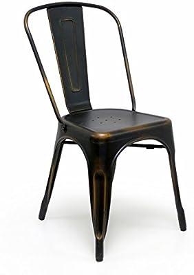 Amazon.com: fineview Armless Chair metal silla de comedor ...