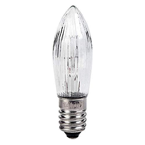 10Pc Vela Lámpara Decorativa Velas Cónicas y Bombillas LED de Repuesto para Luces y Arco de Velas Blanco Cálido E10 3W (8V)