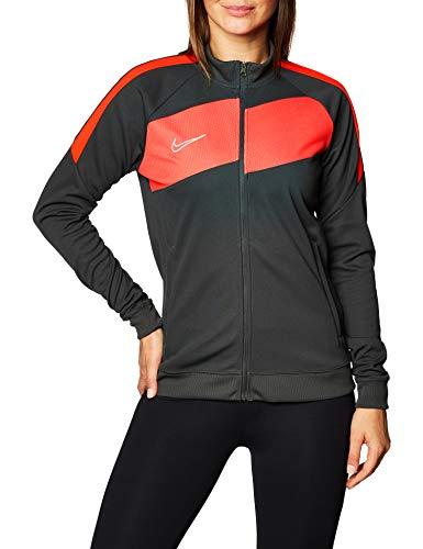 NIKE W NK Dry ACDPR JKT K Chaqueta, Gris/Rojo, XS para Mujer