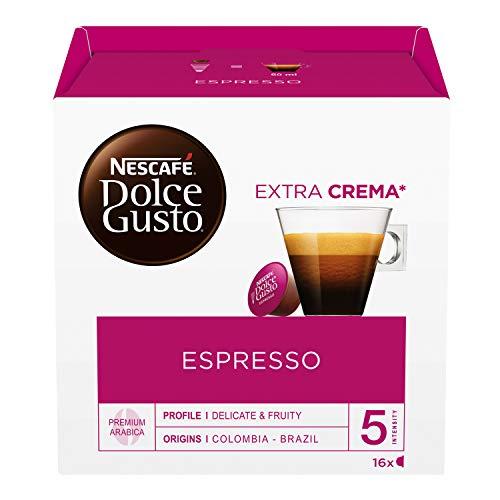 Nescafé Dolce Gusto Espresso Caffè, 6 Confezioni da 16 Capsule (96 Capsule)