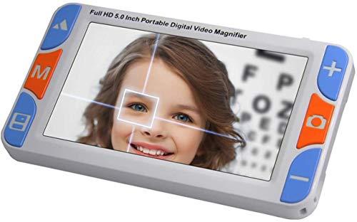 Handheld Digital Lupe 5-Zoll-elektronische Hilfsmittel für niedrigem Sehen, 3-48x-Zoom-Video-Lupe, 26 Farbmodi, AV / TV / HDMI-Ausgang, für die Makuladegeneration, Verschlechterung der Netzhaut Niedri