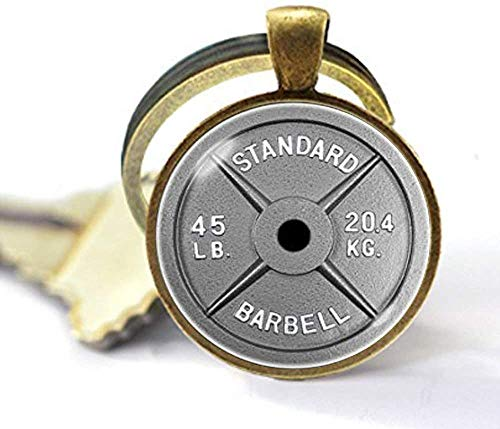 Hantel-Schlüsselanhänger mit Hantel-Motiv, für Gewichtheben, Fitness, Trainer, Geschenke, Fitnessschmuck