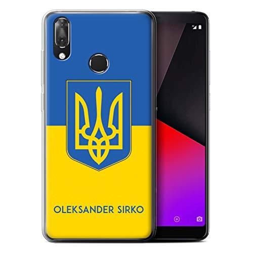 eSwish Personalisiert Individuell National Nation Flagge Gel/TPU Hülle für Vodafone Smart X9 / Ukraine/Ukrainisch Design/Initiale/Name/Text Schutzhülle/Case/Etui