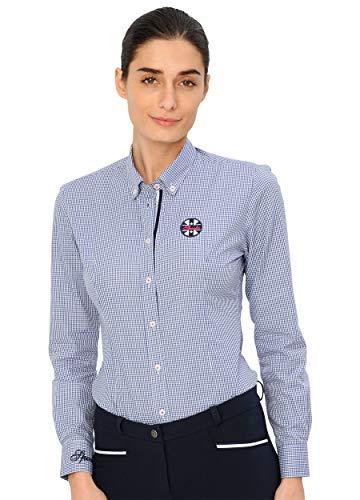 SPOOKS Bluse für Damen Mädchen Kinder, Langarm - Nora Blouse Blue l