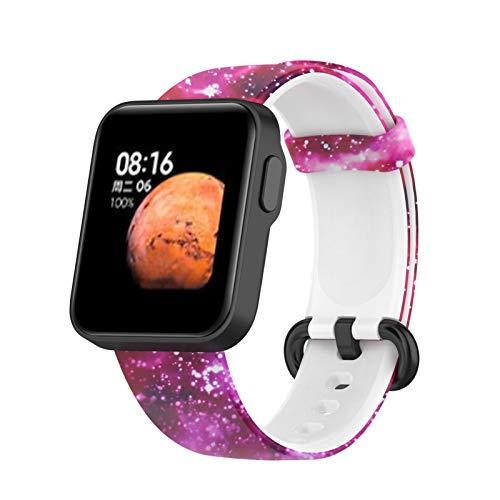 Sarari Correa de silicona suave para reloj inteligente ajustable, accesorio compatible con Xiaomi Mi Watch Lite/Redmi Watch Lite.