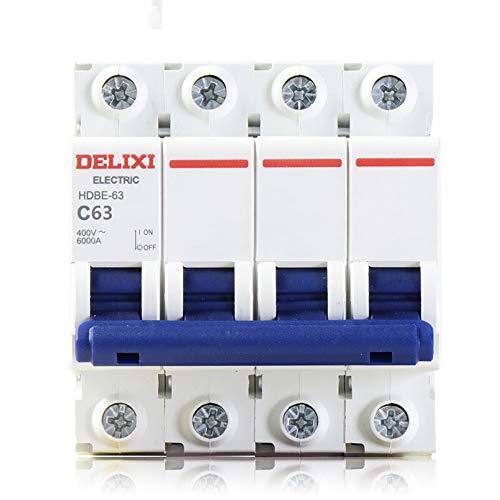 XIONGXI Interruptor trifásico de Cuatro Cables 4P Abierto 380v Interruptor de Aire pequeño, 16A