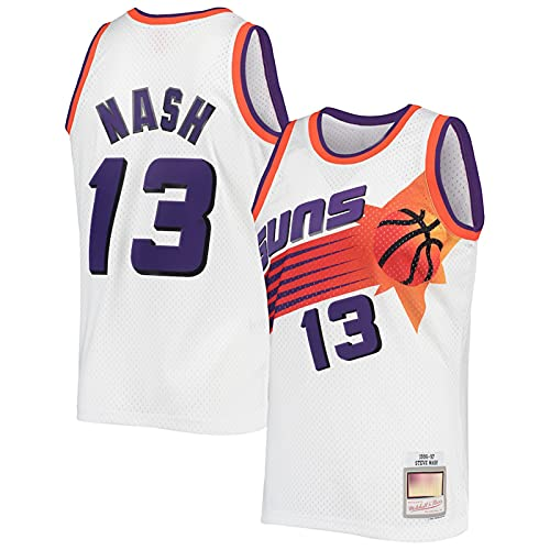 LMSNB Steve Basketball #13 Nash Trikot Phoenix Suns 1996-1997 Saison Klassiker Smooth Swingman Home Basketball Trikot - Weiß