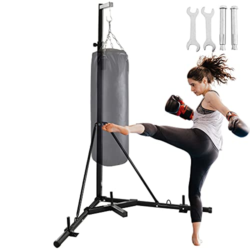 BotaBay Folding Heavy Bag Stand Height Adjustable Sandbag Folding Heavy Bag Stand with Portable...