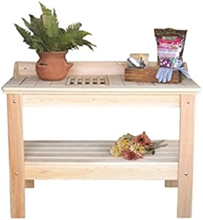 CHOOSEandBUY Wooden Potting Bench Garden Table - Made in USA New Good Elegant Classic Sturdy