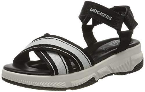 Dockers by Gerli Women's Low-Top Sneakers, Black Schwarz Weiss 150, 9.5