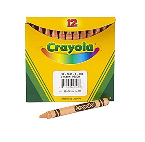 Crayola 52-0836-033 Single-Color Crayon Refill, 5/16' x 3-5/8' Size, Standard, Peach