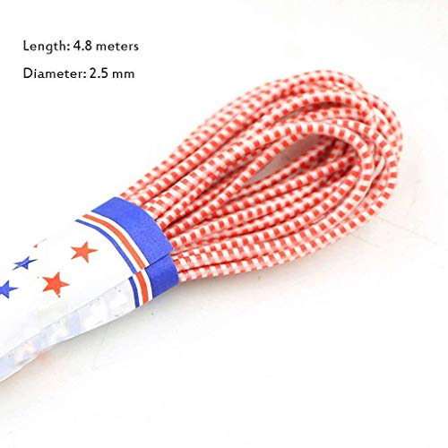 Gevlochten Elastic Band/elastiek elastisch Rope Oorhaakje Cord, elastische Ear Band Rope Elastic voor Maskers en naaien, voor het maken Broeksbanden, Riemen, armbanden-Rood op wit