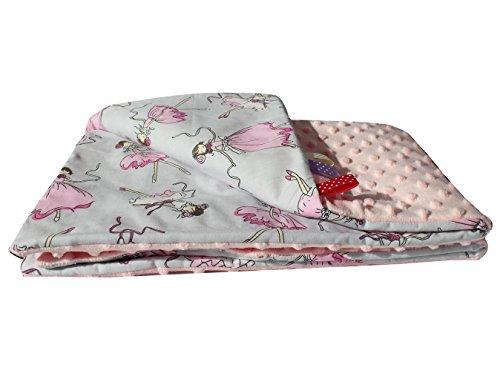 D&S Vertriebs - Manta para bebé (50 x 75 cm), diseño de bailarina, color rosa