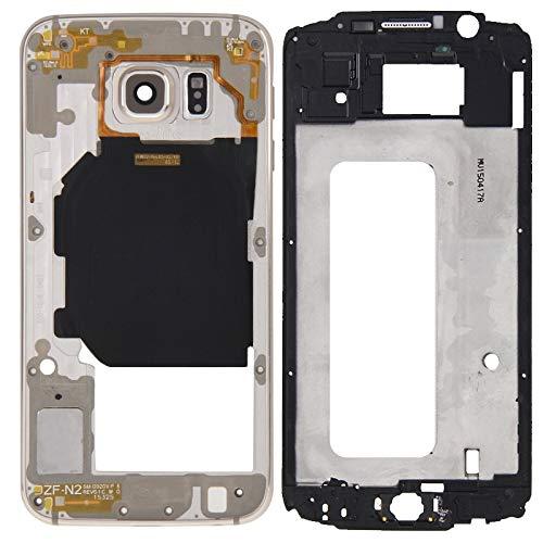 SCREENCOVER+ / CUBIERTA DE VIVIENDA COMPLETA (CAMINO DELANTERO LCD Frame Bezel Plate + Panel de lentes de la cámara de la caja de la placa trasera) para Galaxy S6 / G920F ( , Reemplazo LCD PLACA PLACA