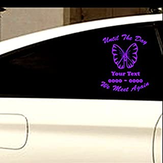 Custom Butterfly 04 In Loving Memory Personalized Car-Wall-Vinyl Decals Stickers (8 Inches)