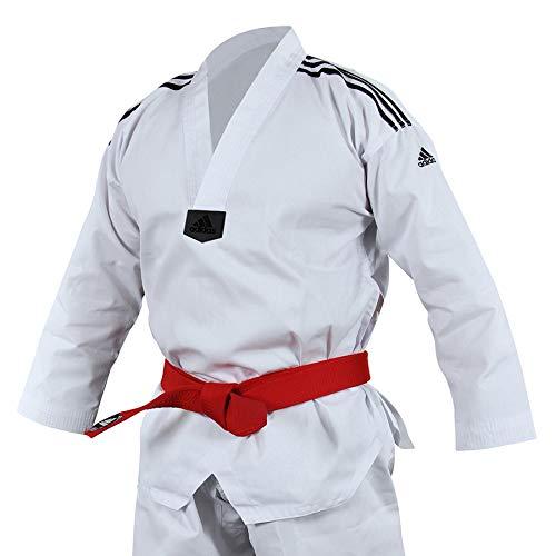 Adidas Dobok de Taekwondo Adi-Club à col noir, Homme, Dobok