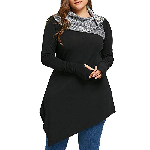 For Sale! Lowprofile Sweatshirt Women Oversized Irregular Hem Pullover Ruched Neck Long Sleeve Thumb...
