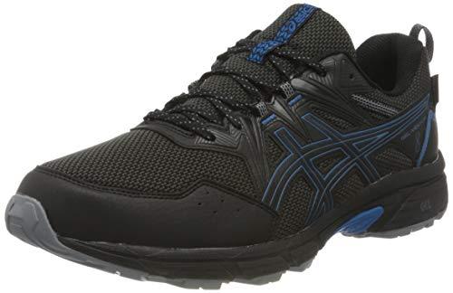 Asics Gel-Venture 8 Waterproof, Trail Running Shoe Hombre, Black/Reborn Blue, 42 EU