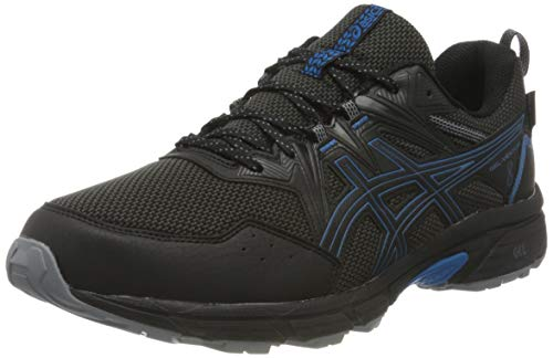 Asics Gel-Venture 8 Waterproof, Trail Running Shoe Hombre, Black/Reborn Blue, 50.5 EU