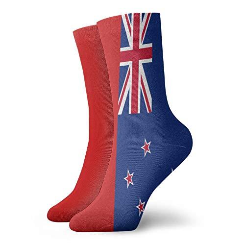 QUEMIN Drapeau de la Nouvelle-Zélande Chaussettes courtes de sport classique 30 cm / 11.8 pouces adaptées aux hommes femmes