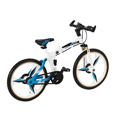 Timagebreze Modelo de Bicicleta de Montaaa de Metal para RC Crawler Coche Axial SCX10 TRX4 MN D90 MN99S MN86S Piezas de DecoracióN