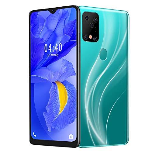Pusokei Teléfono Inteligente 3G Desbloqueado con Huella Dactilar de Cuatro núcleos y 6.7 Pulgadas,2 + 16G de Memoria de 128G para Android 9.1, teléfono Inteligente de Doble Tarjeta, Verde(Verde)