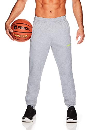 AND1 Herren Trikot Jogginghose – Basketball Laufen & Joggen Sweatpants mit Taschen - Grau - XX-Large