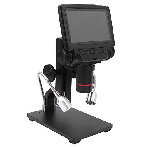 Lazimin Microscopio Digital LCD de 5 Pulgadas, Maginfication 500X Admite Tarjeta de Memoria de hasta 32G, para reparación de teléfonos Herramientas de Soldadura