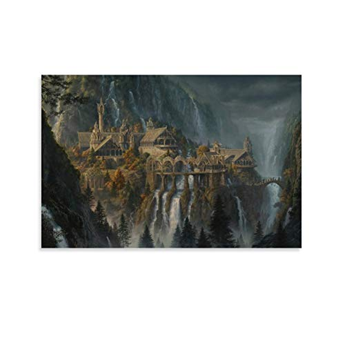NUOMANAN Cover Wood Wall Art Plaque The Lord of The Rings The Lord of The Rings Expedition's Fantasy Adventure 08x12inch(20x30cm) Canvas Print Art for Living Room Wall Unframed/Frameable