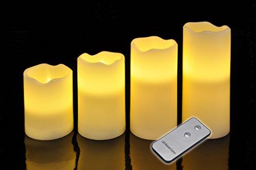 4er Set Led Kerzen mit flackerndem Licht und Fernbedienung