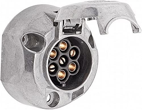 HELLA 8JB 001 941-002 Prise - 7pôle - Bronze-étain - Boîtier métallique - DIN/ISO: 1724 - Quantité: 25