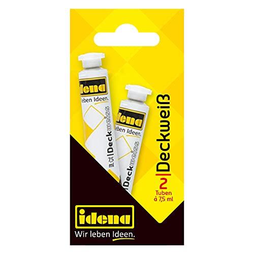 Idena 623026 - Deck 2 Tuben a 7.5 ml, weiß