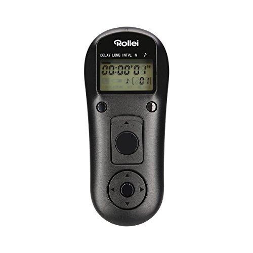 Rollei Funkfernauslöser mit 2.4 GHz für Sony - erlaubt bis zu 50m die Fernauslösung, Langzeitbellichtungen, Zeit-Intervall und Serienbild Aufnahmen Ihrer Sony DSLM/ DSLR Kamera - Schwarz