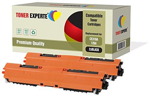 Kit 2 TONER EXPERTE® CE310A 126A Nero Toner compatibili per HP Colour Laserjet CP1025 CP1025nw CP1020 M175a M175nw Pro 100 M175 MFP M175a M175nw M275 TopShot M275