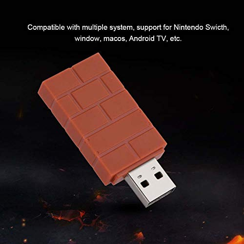 Tosuny USB Wireless Bluetooth Adapter für Nintendo Switch, PS4, PS3, Wii Mote, Wii U Pro, Unterstützung für Nintendo Swicth,Window, Macos, Android TV usw.