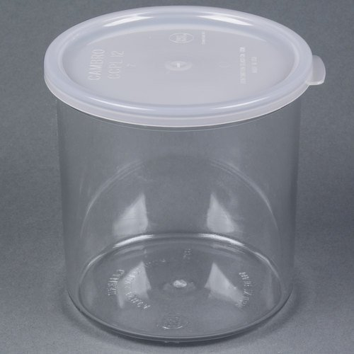 CROCK W/LID CLEAR 1.2 QT, EA, 11-0534 CAMBRO MANUFACTURING CO DISPLAY TRAYS AND CR