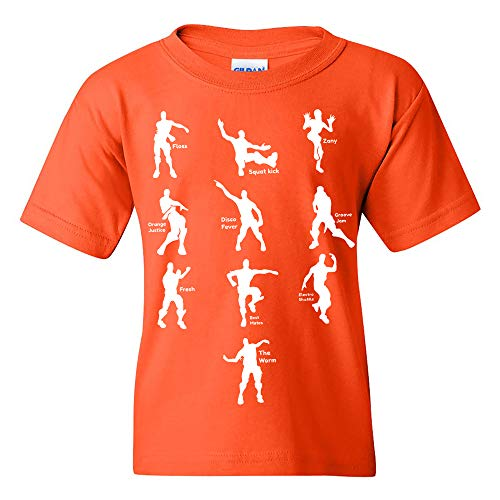 UGP Campus Apparel Emote Dances - Funny Youth T Shirt - Large - Orange