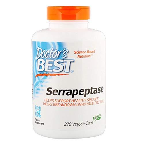 Best Serrapeptase 40,000 Units 270 VCaps Doctor's Best