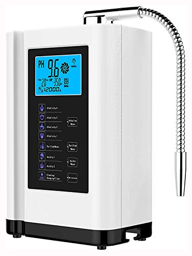 AGWIM Water Ionizer and Alkaline Water Machine AG7.0, PH 3.5-10.5 Water Purifier, Home Water Filtration System, Up to -500mV ORP, 6000L Per Filter, 7 Water Settings, Auto-Cleaning (White)