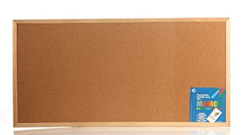 Tablon de anuncio de corcho con Moldura Robusta (120x60 Cm)