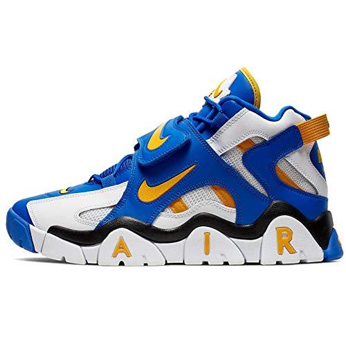 Nike Men's Basketball Shoes , Multicoloured White Laser Orange Racer Blue Black , 9.5 US
