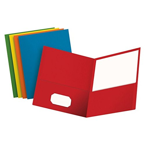 Oxford Two-Pocket Folders, Assorted Colors, Letter Size, 25 per Box (57513)