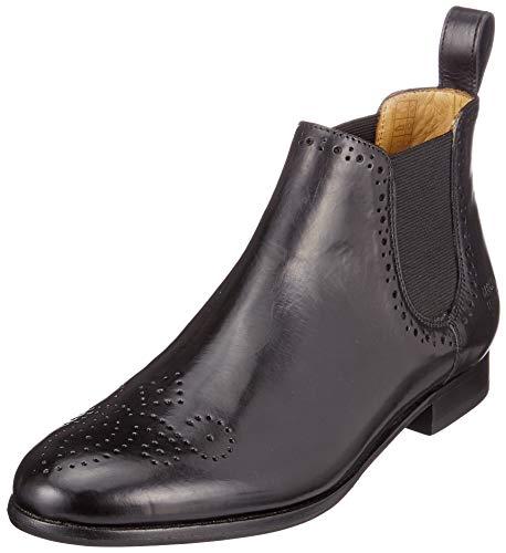 Melvin & Hamilton Damen Sally 16 Chelsea Boots, Schwarz (Salerno, Elastic, Ls Welt Black), 39 EU