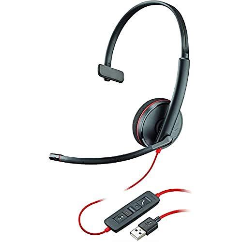 Plantronics Blackwire C3210 - Auriculares con cancelación de Ruido, Protector de Sonido...