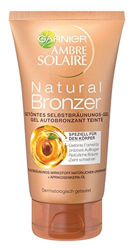 Garnier Ambre Solaire Natural Bronzer Getöntes Selbstbräunungs-Gel, für eine natürliche Bräune, präzises Auftragen, 150 ml