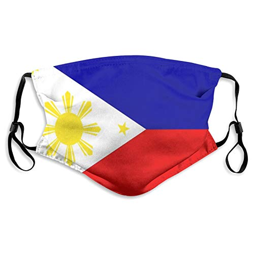 Flag Of The Philippines Dust Reusable Washable Filter and Reusable Windproof Mouth Warm Cotton Face