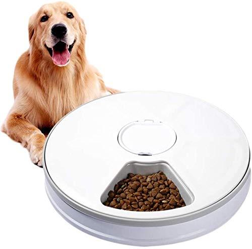 Nologo Alimentador del Animal doméstico, alimentador automático Inteligente Mascota, Gato y Perro Temporizador alimentador 6 Rejilla alimentador automático aycpg