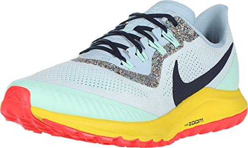 Nike Men's Air Zoom Pegasus 36 Trail Running Shoe, Aura Blackened Blue Lt Armory Blue Mint Foam Speed Yellow Laser Crimson, 10