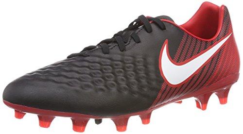 Nike Magista Onda II FG, Botas de fútbol para Hombre, Multicolor (Negro/Blanco/Rojo Universitario 061), 42 EU